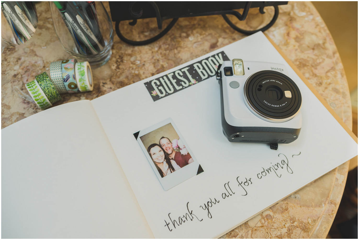 instamax polaroid guestbook ranch at the canyons wedding central oregon
