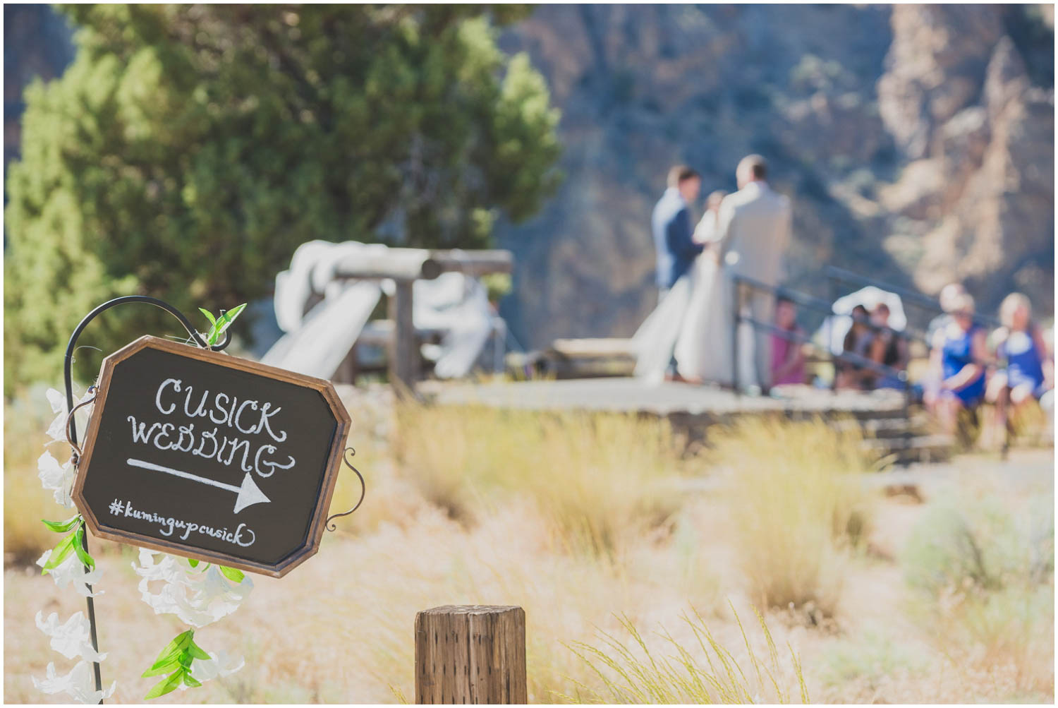 ceremony sign at smith rock amphitheater terrebonne oregon