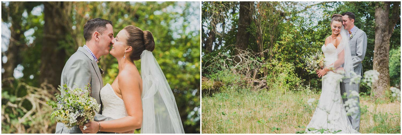 romantic summer wedding bridal portraits in natural area
