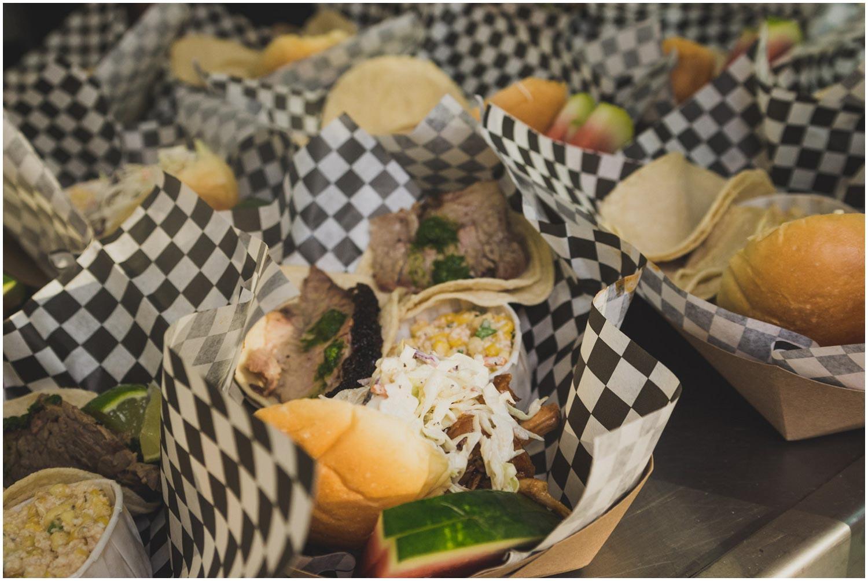 BBQ picnic dinner by bacon nation for backyard wedding eugene oregon