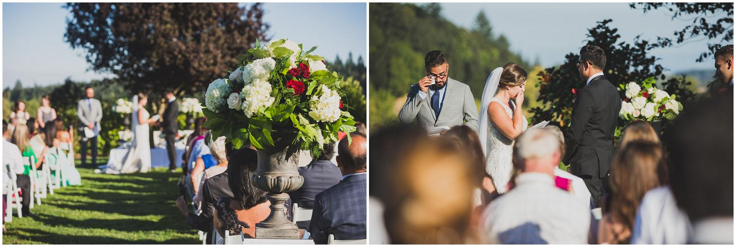 beautiful outdoor summer wedding at zenith vineyard with persian american blended ceremony