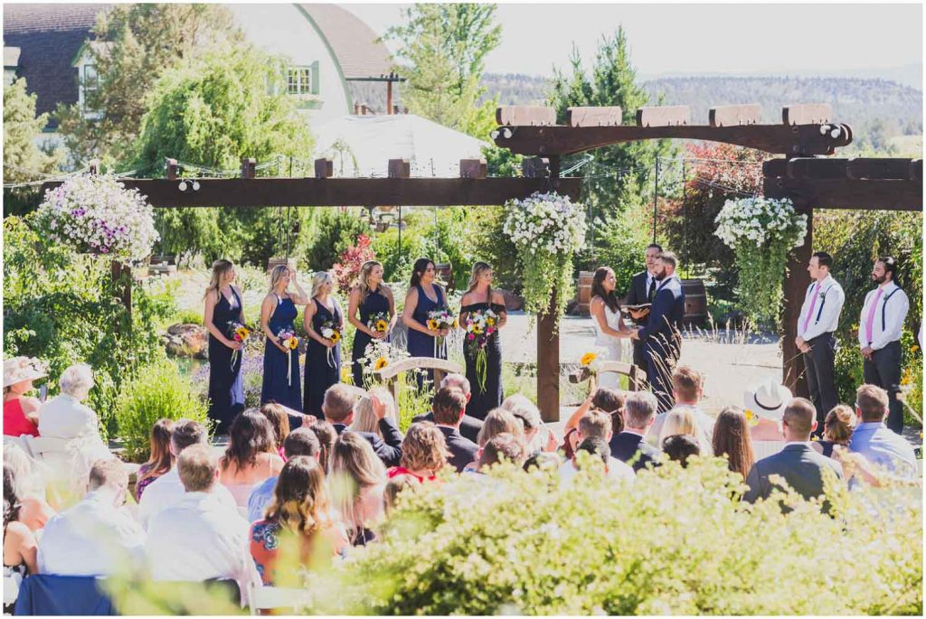 beautiful sunny wedding day at faith hope and charity vineyard madras oregon