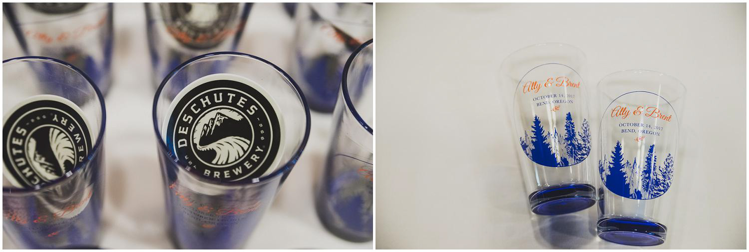 deschutes brewery stickers and custom wedding pint glasses