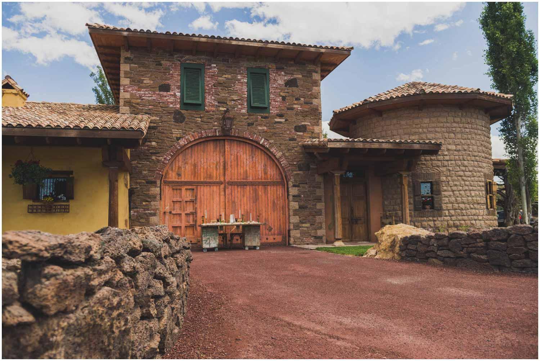 ranch at the canyons tuscan stables main entrance