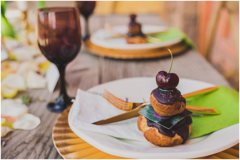 foxtail bakeshop cream puff desserts with black cherries